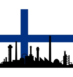 Industry and flag of Finland vector image vector image