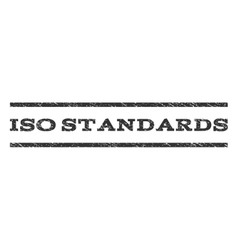 ISO Standards Watermark Stamp vector
