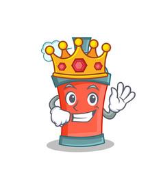 King aerosol spray can character cartoon vector