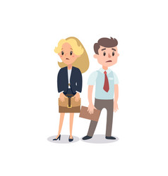 man and woman present a project vector image