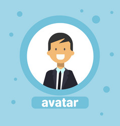 man avatar caucasian businessman profile icon vector image