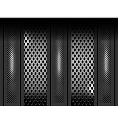 Metal background template vector
