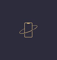 Mobile phone logo premium minimalistic vector