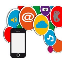 mobile social network circle vector image