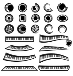 Musical Piano Keyboards Isolated vector image
