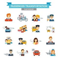 Passenger Transportation Icon Flat vector image
