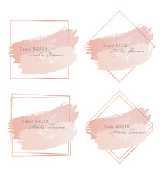 pastel brush strokes frame vector image