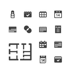 Plan icons vector