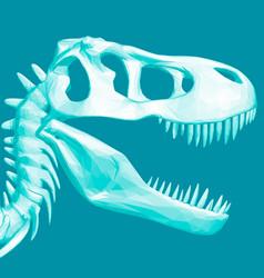 Polygonal dinosaur head skull a prehistoric vector
