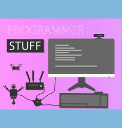 Programmer stuff vector