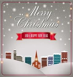 Quaint Christmas village vector