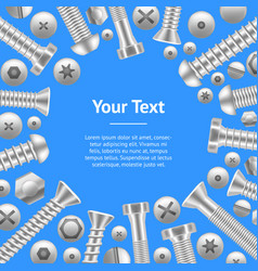 realistic screw banner card different shapes vector image