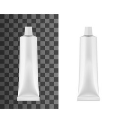 realistic tube for toothpaste or cream mock up vector image