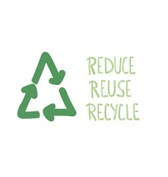 Reduce reuse recycle concept text design vector