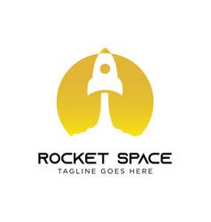 rocket logo concept creative minimal design vector image