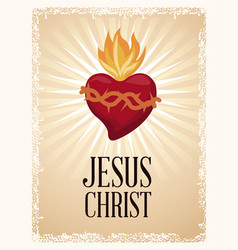 sacred heart blessed spirit vector image