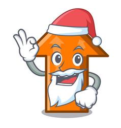 santa arrow mascot cartoon style vector image
