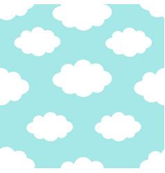 seamless pattern cloud in sky cute cartoon vector image