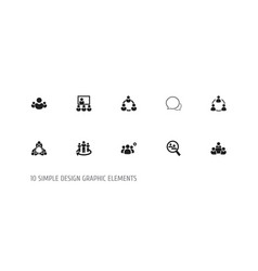 set of 10 editable community icons includes vector image