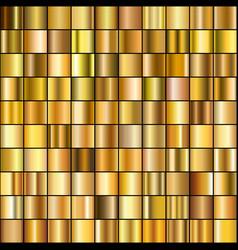 Set realistic gold gradients vector