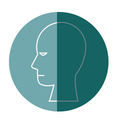 Silhouette head human people profile vector