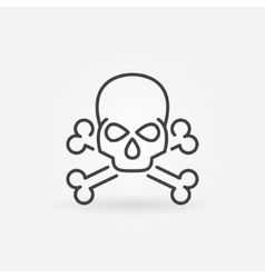 Skull linear icon vector