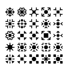 Snowflakes Icons 4 vector image