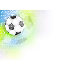 Soccer banner with football ball net glitter and vector