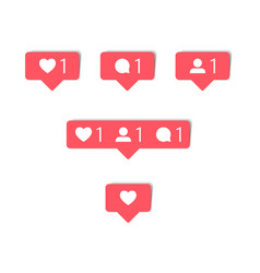 social media comment follower and notification vector image