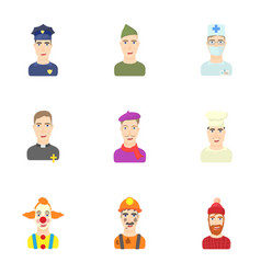 Specialty icons set cartoon style vector
