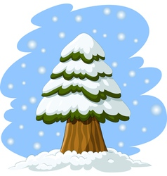 Spruce in the snow vector