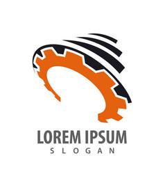 storm gear industrial logo concept design symbol vector image