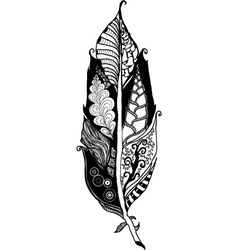 Tangle feather vector