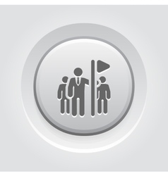 Team Leader Icon Grey Button Design vector