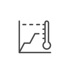 Temperature graph line icon vector