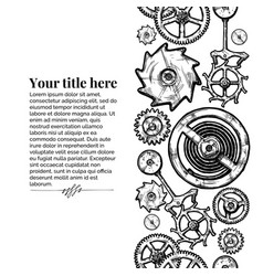 template with different gears vector image