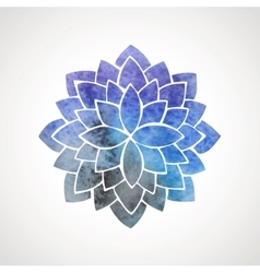 Watercolor lotus flower with space background vector image vector image