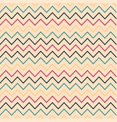 zigzag seamless striped pattern - retro vector image