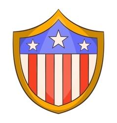 American shield icon cartoon style vector image vector image