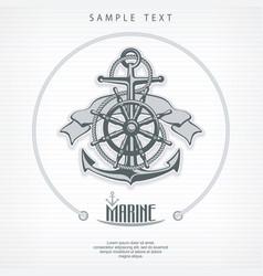 anchor symbol badge round vector image