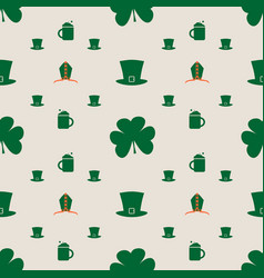 bishop mitre with shamrock seamless backdrop vector image vector image