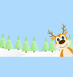 deer in the winter forest vector image vector image