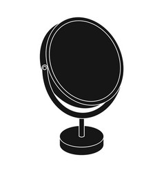 desk mirrorbarbershop single icon in black style vector image vector image