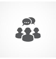 Discussion icon vector image