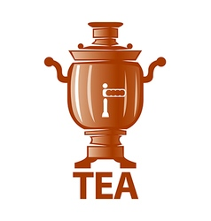 logo Russian samovar for tea vector image