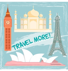 travel object vector image vector image