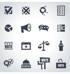 black election icon set vector image
