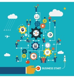 Business start infographics vector image vector image