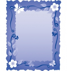 greeting card with frame vector image vector image