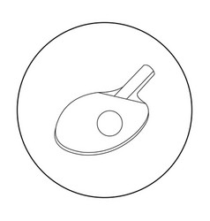 ping-pong icon outline single sport icon from the vector image